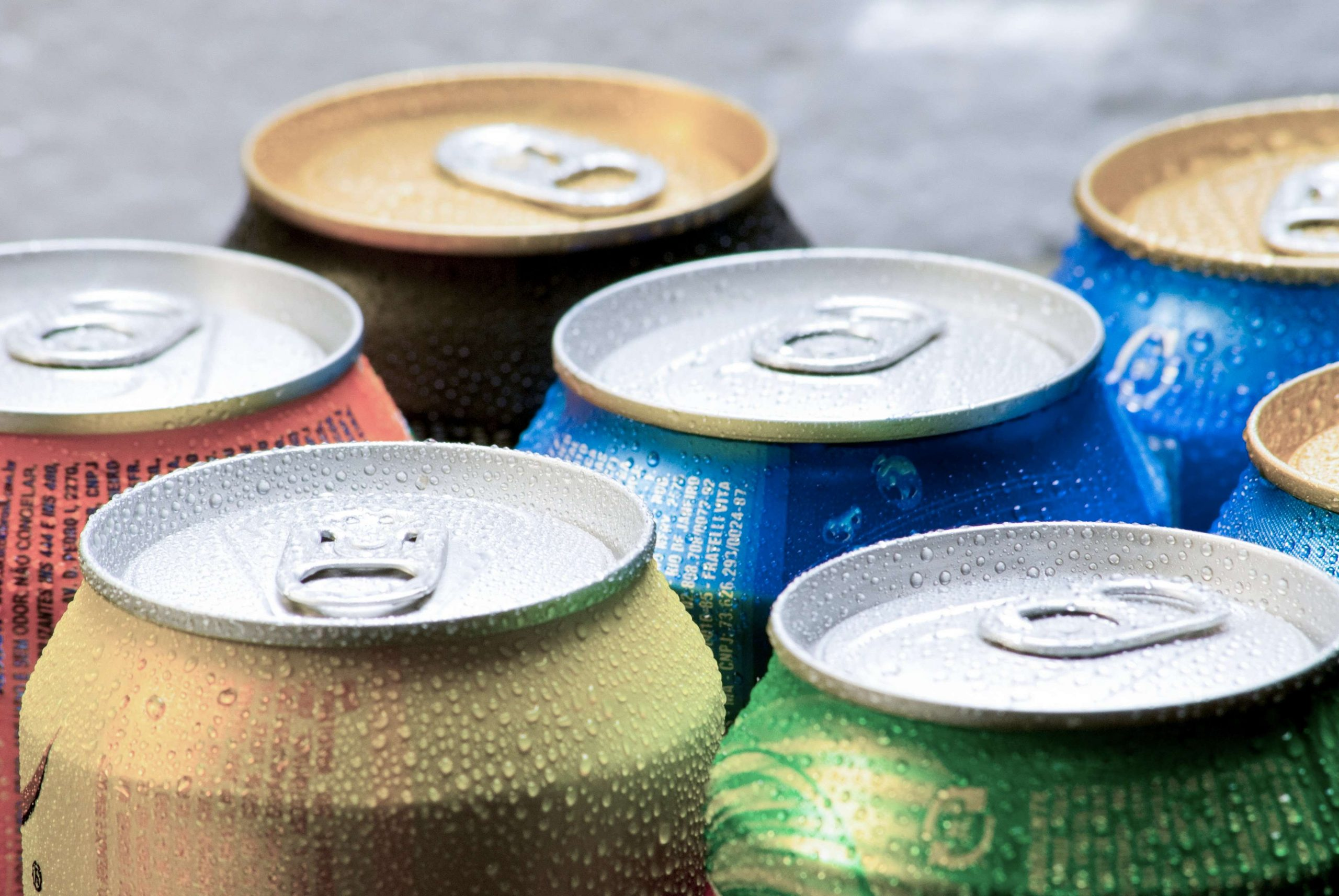 recycled aluminium cans